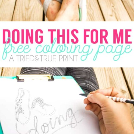 """Taking time out for myself with this """"Doing This For Me"""" Coloring Page! Free for you to color and enjoy!"""