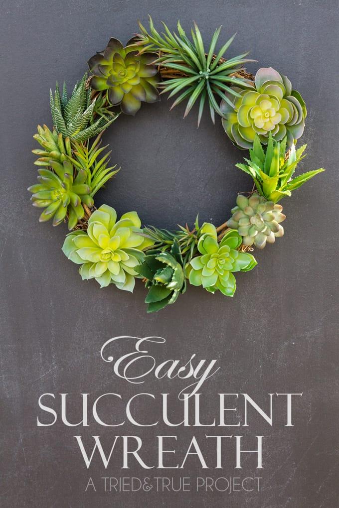 Easy Succulent Wreath