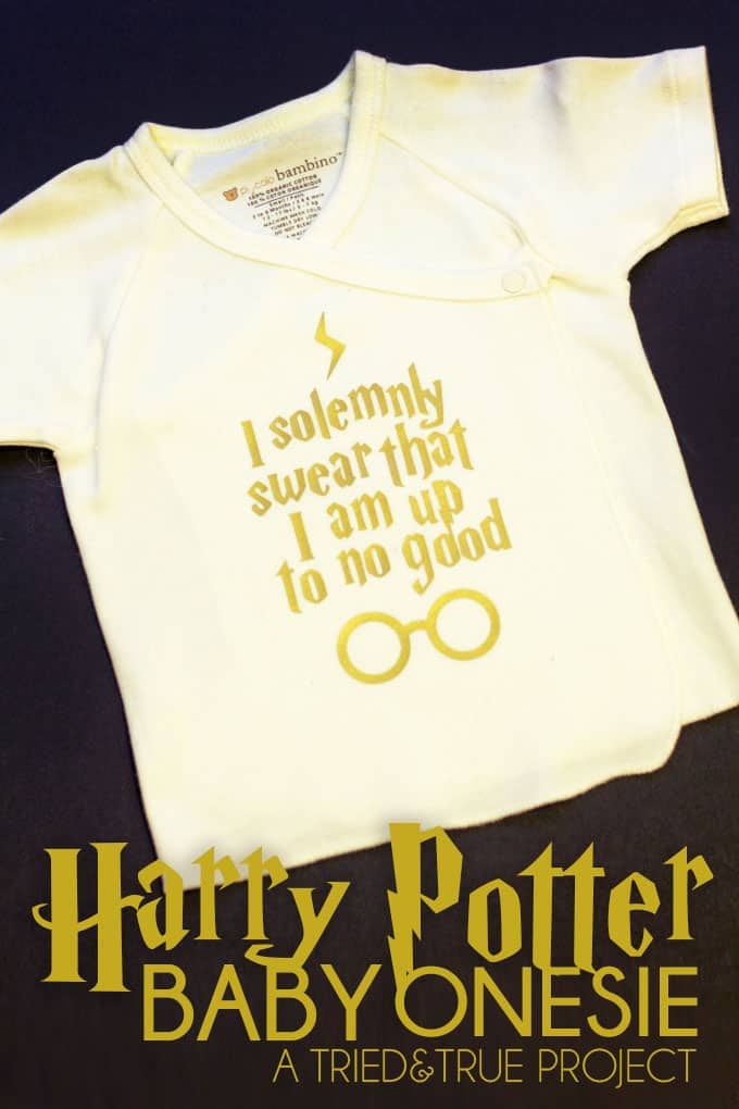 "Dress your future Potterhead in style with this ""Up To No Good"" Harry Potter Baby Onesie Silhouette file.  Accio cuteness!"