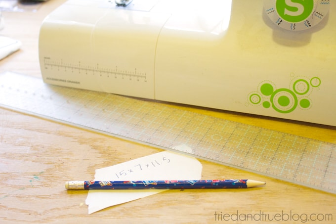 Easy Sewing Machine Cover - Measurements