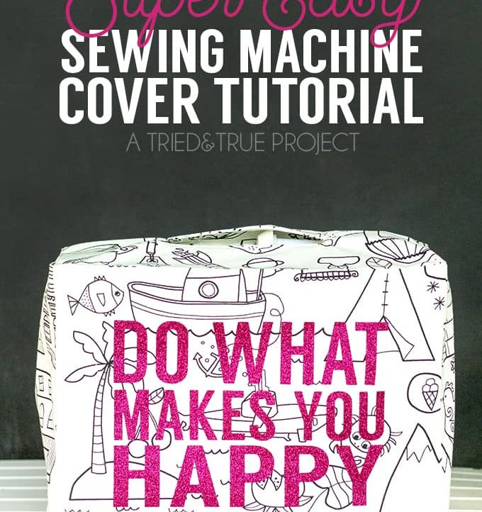 Combat dust in style with this super Easy Sewing Machine Cover! Includes full instruction on converting your own measurements into a pattern.