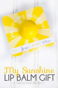 """Give this My Sunshine Lip Balm Gift as an easy birthday or """"just because"""" gift!"""