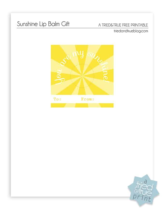My Sunshine Lip Balm Gift - Print