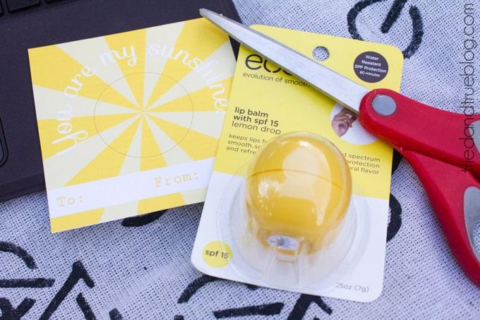 My Sunshine Lip Balm Gift - Supplies