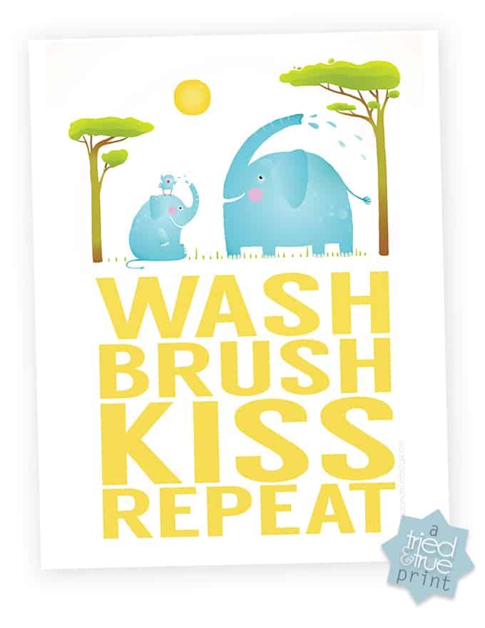 Bathtime Routine Free Printable - Print