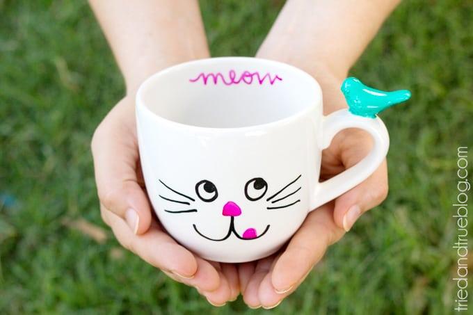 Handmade Mug Gifts - Meow