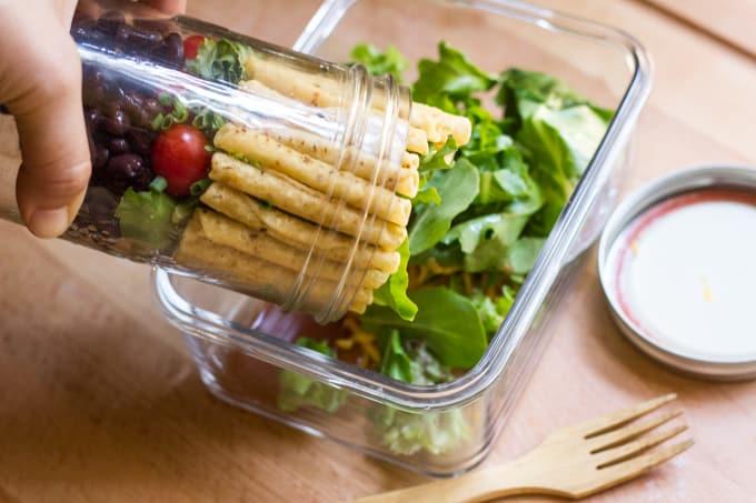 Mason Jar Taco Salad - Empty