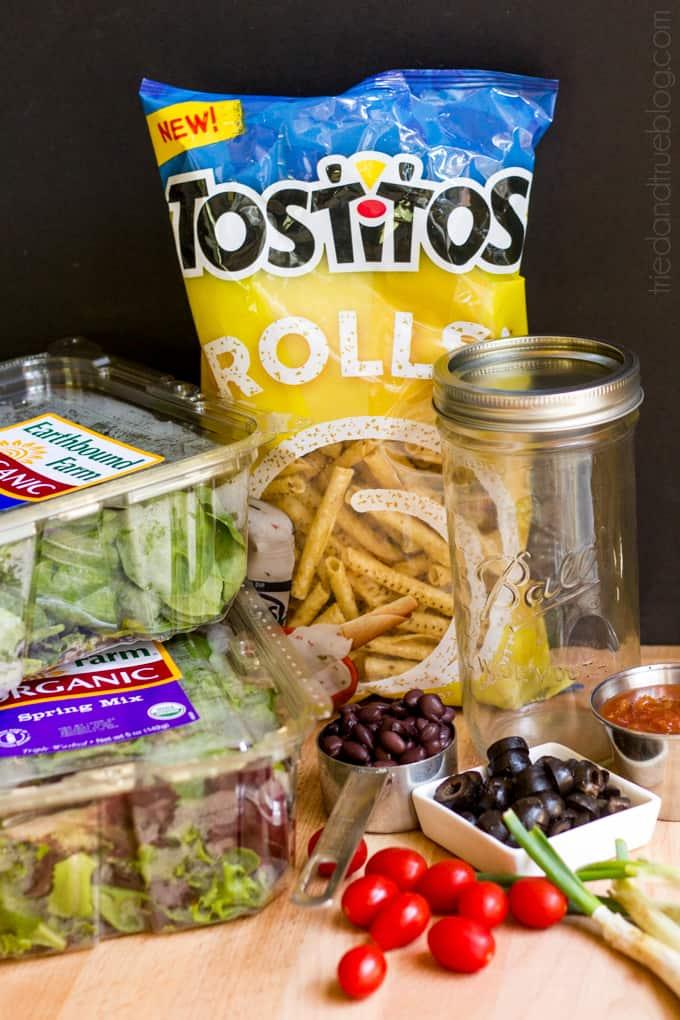 Mason Jar Taco Salad - Ingredients