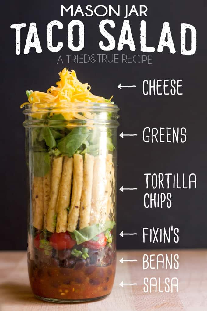 Mason Jar Taco Salad - Tried & True