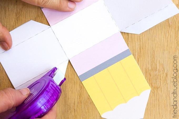 Assembling the printed pencil box.