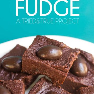Make this super quick & easy fudge when you don't want to slave over a hot stove!