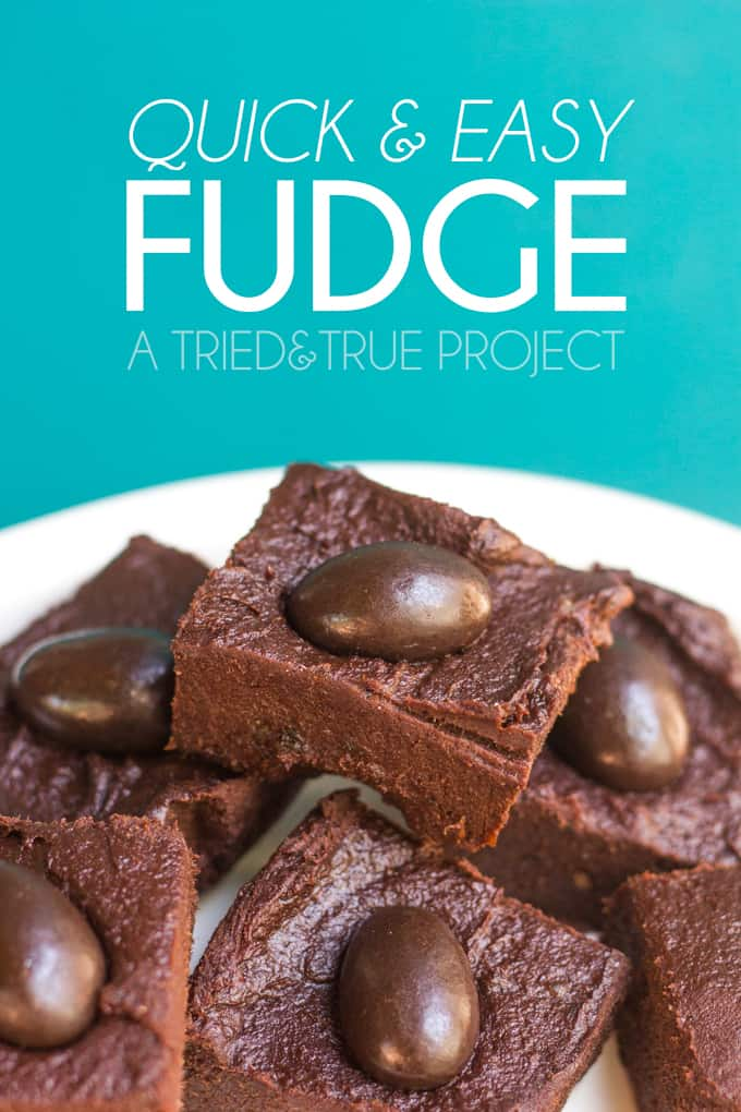 Make this super quick & easy fudge when you don't want to slave over ...