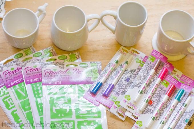 Handmade Mug Gifts - Supplies