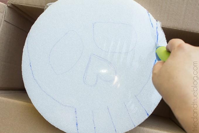Easy Calavera Wall Art - Circle