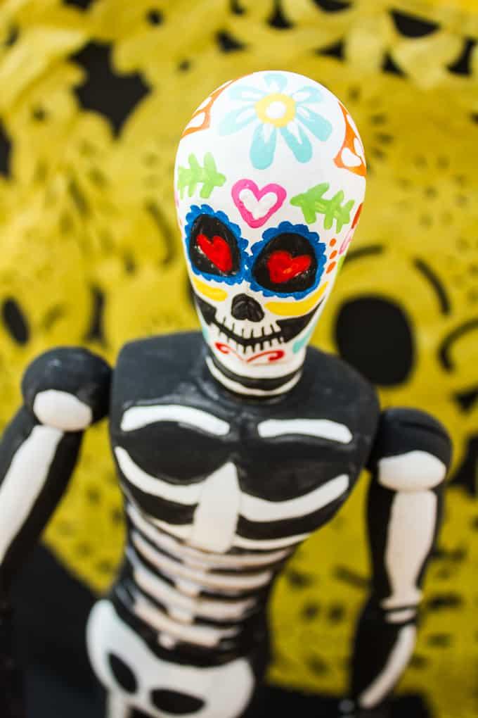 Dia de Los Muertos Figurine - Head
