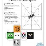 Halloween Dice Game Free Printable