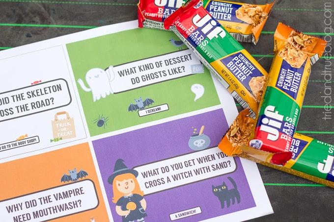 Halloween Lunch Jokes Free Printable - Supplies