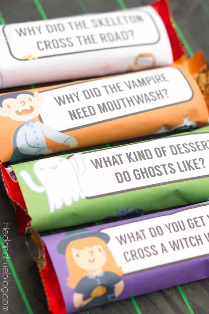 Halloween Lunch Jokes Free Printable - Ready!