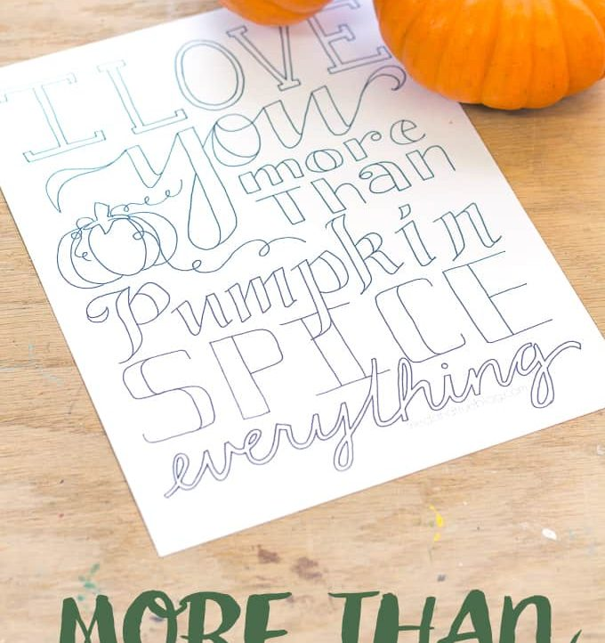 """Need a little relaxation in your life? Grab your colored pencils and enjoy your Me Time with this """"More Than Pumpkin"""" Free Coloring Page!"""