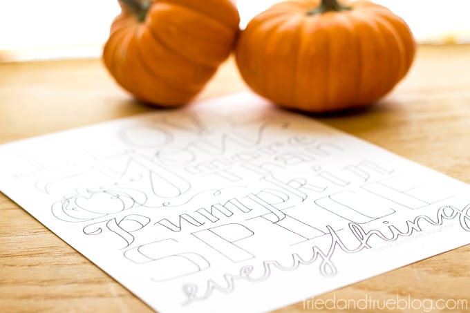 More Than Pumpkin Free Coloring Page - Relaxation