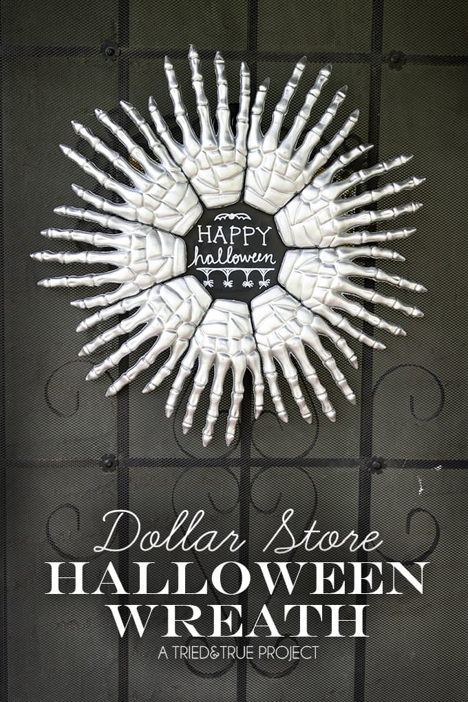 Make This Fun Skeleton Hands Halloween Wreath With Just A Few Inexpensive  Supplies. The Perfect
