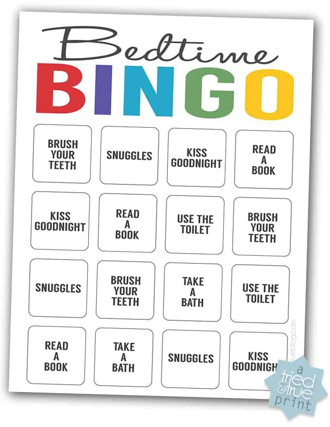 How To Start A Bedtime Routine - Bingo