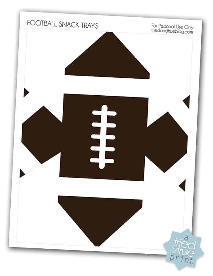 Football Snack Trays - Free Printable