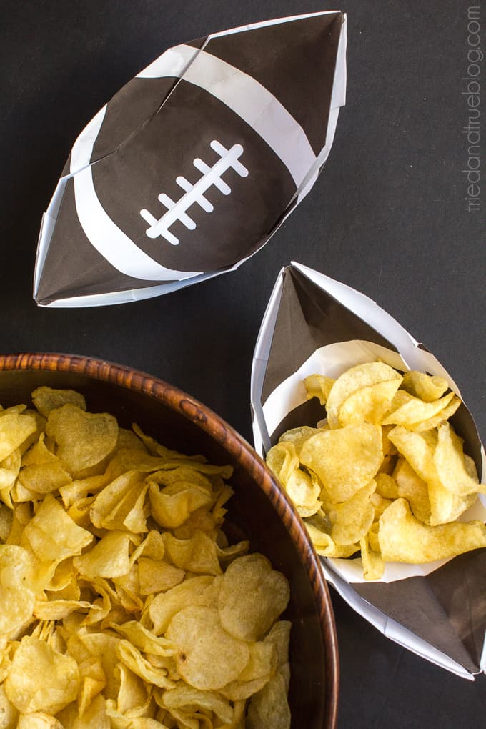 Football Snack Trays - Chips