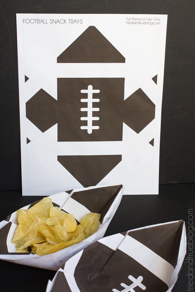 Football Snack Trays - Print