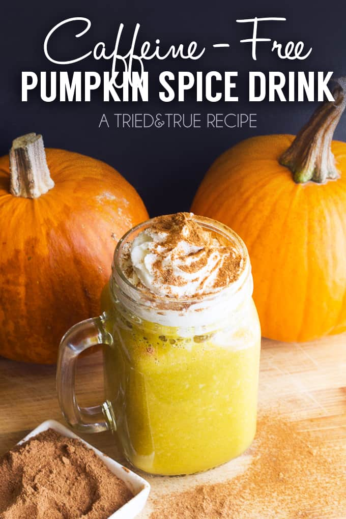Whether you're abstaining from caffeine or want a special drink for the kids, this Caffeine-Free Pumpkin Spice Drink is sure to hit the spot!