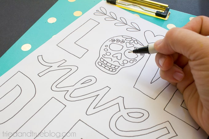 Love Never Dies Coloring Page - Drawing