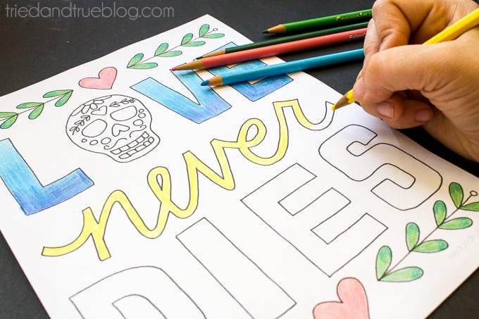 Love Never Dies Coloring Page - Color