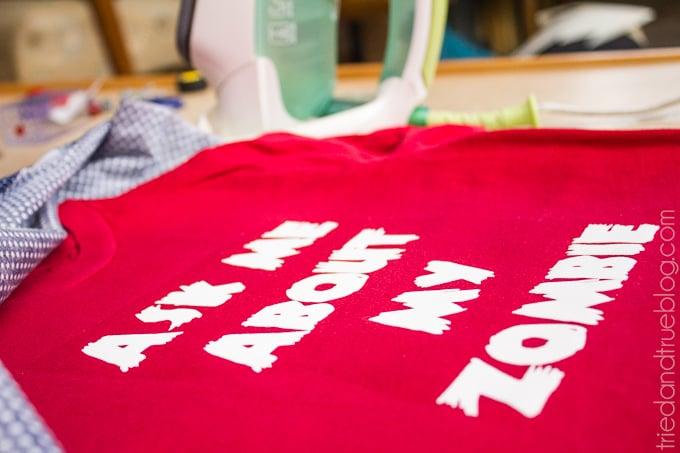 Zombie Flip Up T-Shirt - Iron