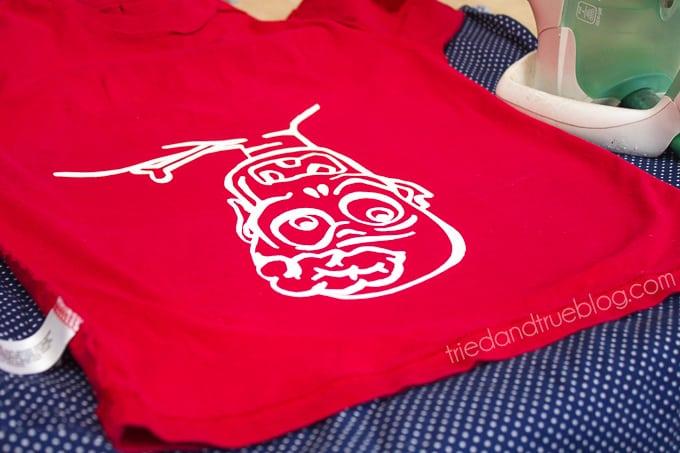 Zombie Flip Up T-Shirt - Inside