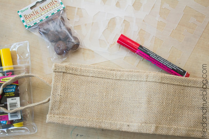 15 Minute Holiday Wine Tote Gift - Supplies