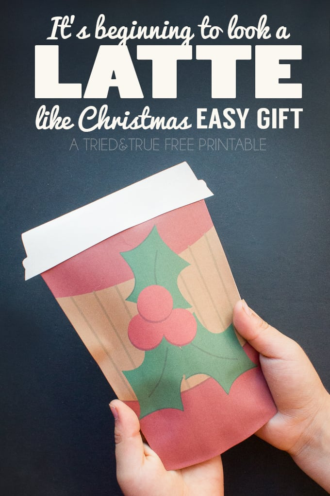 """""""A Latte Like Christmas"""" Easy Gift is perfect for teachers, co-workers, or friends! Fill with a instant coffee package or gift card."""