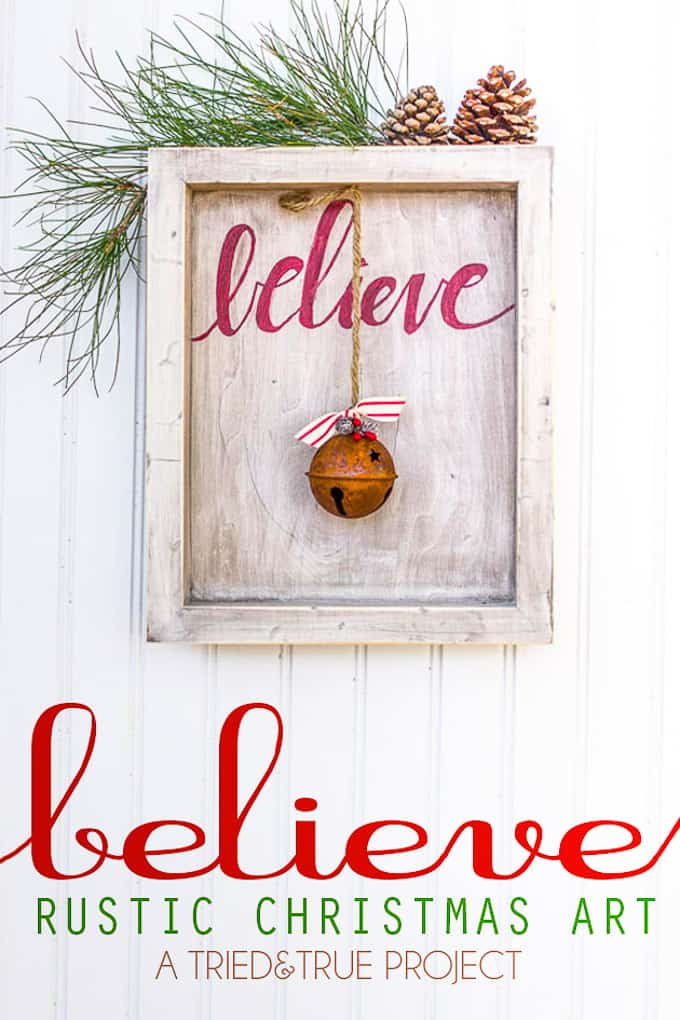 Believe Rustic Christmas Art from The Polar Express