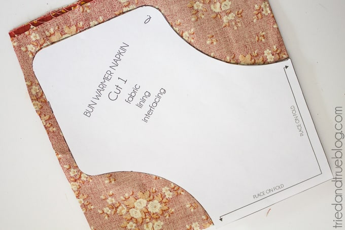 Fabric Napkin Bread Warmer - Pattern