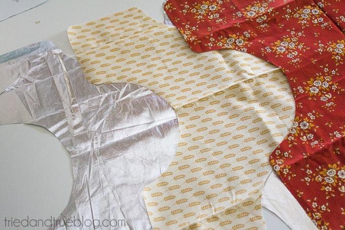 Fabric Napkin Bread Warmer - Cut