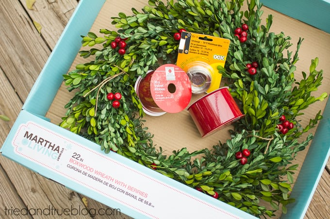 Classic Christmas Wreath Trio - Supplies