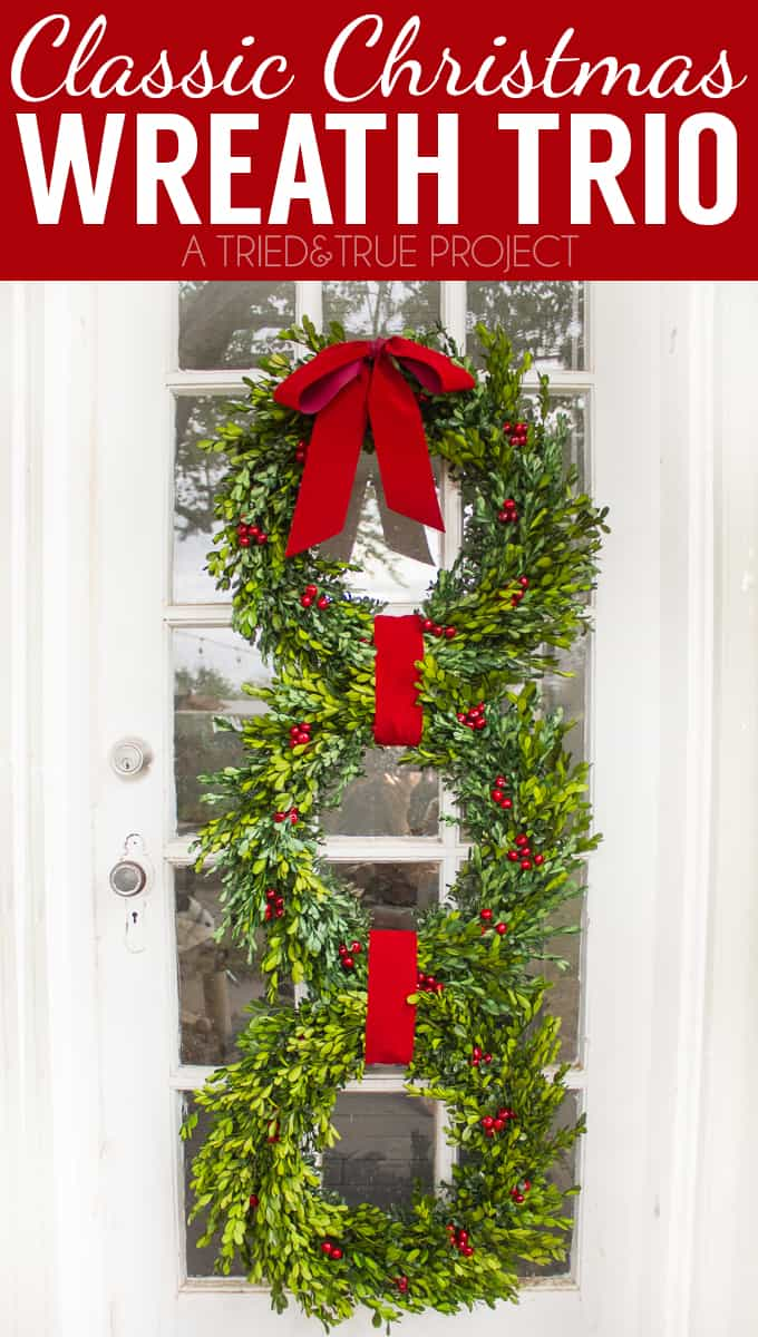 Make this Classic Christmas Wreath in just minutes! Perfect way to greet all your holiday guests!