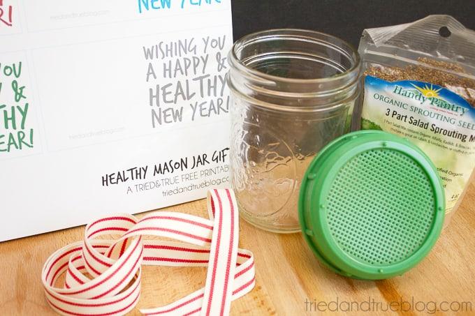 Healthy Mason Jar Gift - Supplies
