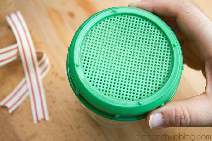 Healthy Mason Jar Gift - Lid