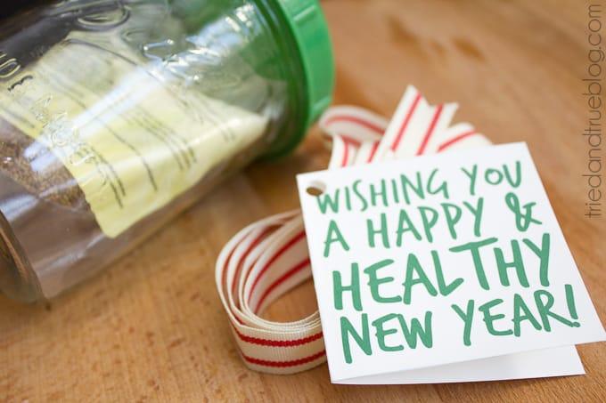 Healthy Mason Jar Gift - Label