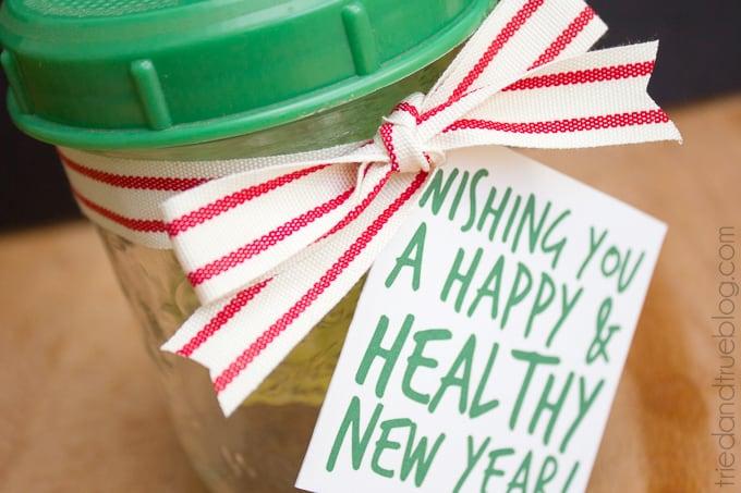 Healthy Mason Jar Gift - Gift Tag