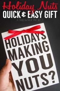 This Holiday Nuts Quick & Easy Gift is perfect for co-works or friends! Includes a