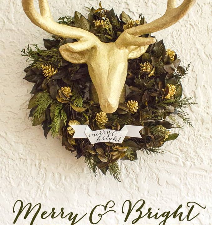 This Merry and Bright Natural Wreath is easy to make and super on trend!