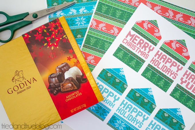 Free Nordic Holiday Gift Wrapping & Tags - Last Minute