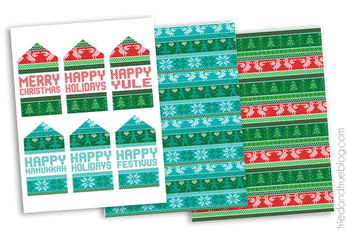 Free Nordic Holiday Gift Wrapping & Tags - Free Printables
