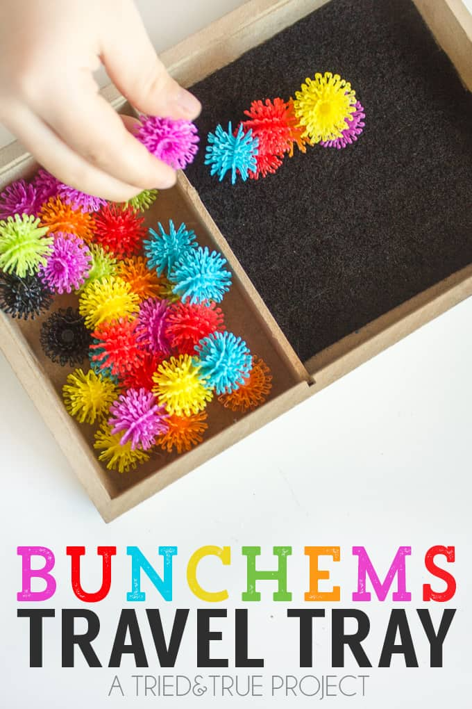 Make this super easy Bunchems Travel Tray in just minutes. Perfect for playing on the go!